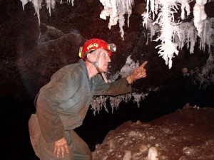 """The """"fossil"""" himself, Dave Ingold, who provided most of the photographs of the Knocking Shop Cave used on this page"""